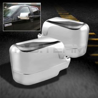 04 08 Ford F150 F 150 Chrome Side Mirror Covers Pickup Truck