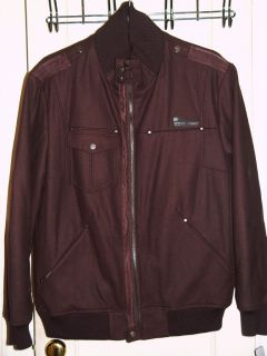 Mens Rocawear Brown Wool Jacket Coat XL New Tags