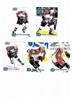 1998 99 Pacific Ice Blue Parallel Avalanche Peter Forsberg