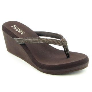 Flojos Envy Womens Size 10 Brown Open Toe Textile Dress Sandals Shoes