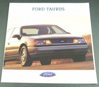 1993 93 ford taurus brochure gl lx sho. Black Bedroom Furniture Sets. Home Design Ideas