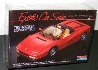 FERRARI TESTAROSSA model car kit Monogram 2782 1 24scale 1988 vintage