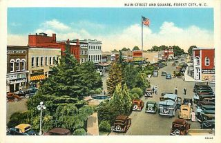 NC Forest City Main Street Square Early Auto R37295