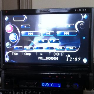 Kenwood KVT 817DVD 7 inch Car DVD Player In Dash Flip Out TV