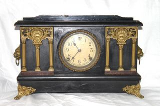 Sessions Clock Co Forestville Conn USA Antique Wooden Mantel Clock