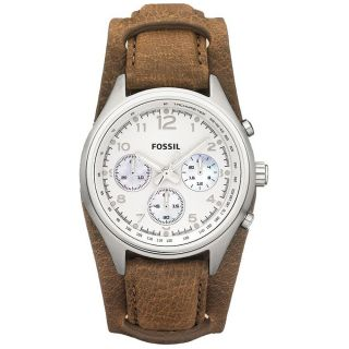 Fossil Flight Sport Womens Stainless Steel Case Chronograph Date