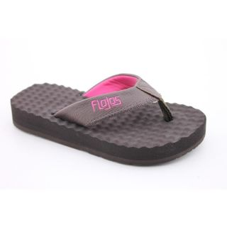 Flojos Blair Youth Kids Girls Size 2 Brown Synthetic Flip Flops