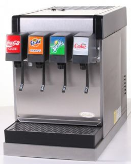 soda fountain system small footprint 4 flavor counter electric model