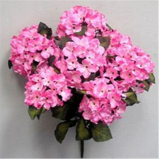 PINK Satin Hydrangea Bush Silk Flowers Artificial Wedding Arrangements