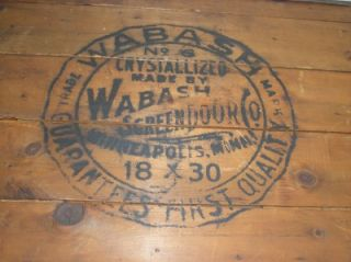Antique Coal Burning Stove Board Ad Wabash Screen Door