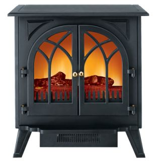 Electric Fireplace Stove Heater Black Floor Standing US Stock