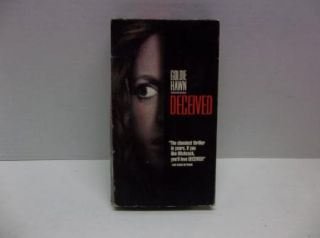 Deceived   VHS Action suspence Thriller Movie Video Tape  Goldie Hawn
