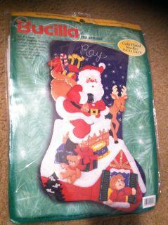 Bucilla Jumbo 28 Down The Chimney Felt Christmas Stocking Kit 84079