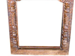 Furniture India Carved Window Frame Teak Wood Mirror Frame 44 x 27
