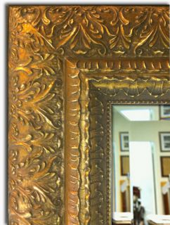Framed Wall Mirror Mantle Bathroom Mirror Decorative Ornate Antique