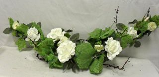 French rose swag CREAM Silk Flowers Artificial Wedding Arrangements