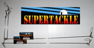 20 x 2 SUPERTACKLE Fluke Halibut Fishing Spreader Bars