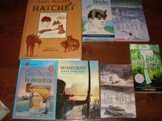 12 Gary Paulsen Chapter Book Lot Hatchet Tuckets Travel 4F