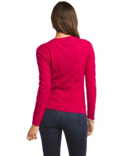 forte azalea cashmere v neck cable sweater $ 320 00