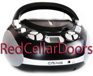 PORTABLE CRAIG CD PLAYER AM FM STEREO RADIO LCD BOOMBOX INDOOR OUTDOOR