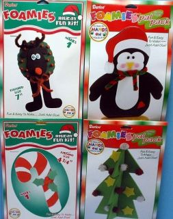 Foam Craft Kits Tree Penguin Reindeer Candy Cane