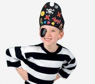 black pirate hat foam craft kit with foam stickers