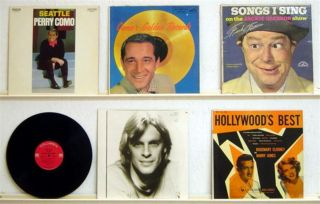 lot pop PERRY COMO lp FRANK FONTAINE vinyl KEITH CARRADINE vintage