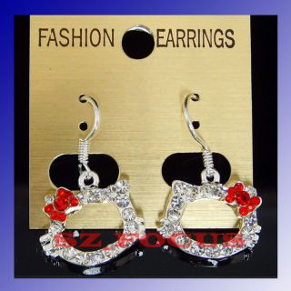 Wholesale Beautiful Bow Crystal Diamante Gift Earrings Gift 179 Free