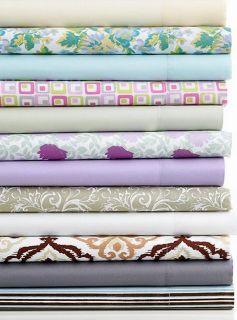 Fine Linens Microfiber Purple Floral Twin Sheet Set New
