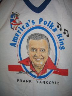 Vintage 70s Frank Yankovic Accordian Polka King T Shirt Mens XXL 2XL