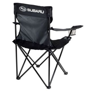 Subaru Black Folding Outdoor Chair with Carry Bag