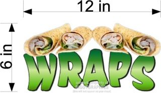 Small Food Vinyl Decal Wraps Wrap Sandwiches Concession