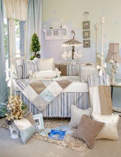 New Glenna Jean Preston Baby Boy Crib Nursery Bedding 4 pc set