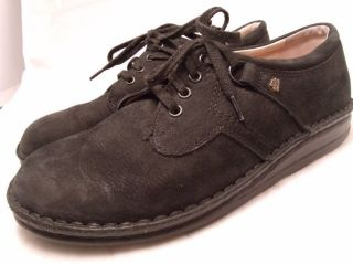 FINN COMFORT sz 39 EU 8 5M US BLACK SUEDE LEATHER ORTHOPEDIC SHOES