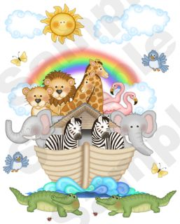 Noahs Ark Animals Zebra Baby Nursery Kids Room Wall Mural Stickers