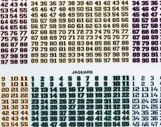 Tudor Electric Football NFL 4 sets of NFL font numbers per sheet