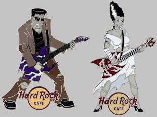 Hard Rock Cafe Online 2011 Halloween Monster Band Pins 1 3