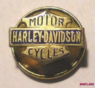 DAVIDSON MOTOR CYCLE Lapel Pin GOLD FILLED? from FRED FOEST SF CA