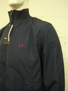 Mens Fred Perry J1281 Tipped Navy Jacket Sz s M L XL 2XL RRP £95 00