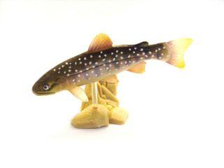 Aquarium Japanese Whie Spoed Masu rou Fish Figure RARE