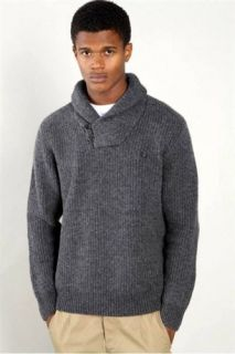 fred perry grey shawl neck sweater k8249 size large fred perry