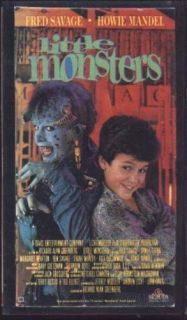 VHS Little Monsters Fred Savage Howie Mandel RARE