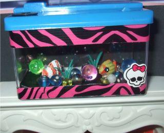 Monster High or Barbie Doll House Fish Tank Aquarium Accessories OOAK