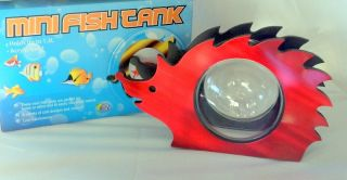 Hedgehog Shaped Red Mini Fish Tank Bowl Office Home New