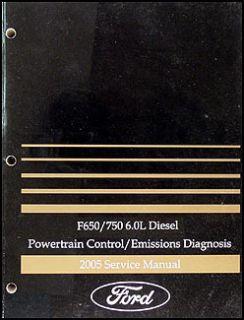 2005 Ford F650 F750 6 0L Diesel Engine Diagnosis Manual