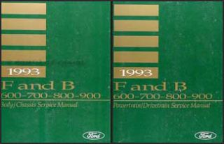 1993 Ford F600 F700 F800 FT900 Truck Shop Manual Set 93 Repair Service