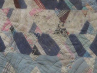 Hand Dyed Old Cutter Quilt 1930 40 Primitive Stocking Christmas Scrap