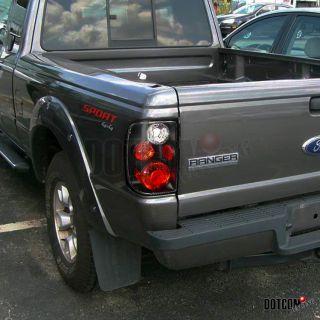 98 05 Ford Ranger Matt Black Tail Lights All Models 3 Socket Holes