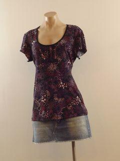 Susan Lawrence New Size XL Slinky Scoop Neck Rear Tie Babydoll Shirt
