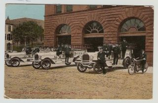 Freeport Fire Department Fire Station No 1 Freeport Illinois Postcard